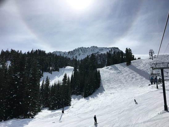 Stevens Pass Resort - Killer day at Stevens pass.  Snow loosened up and sun all day ! 