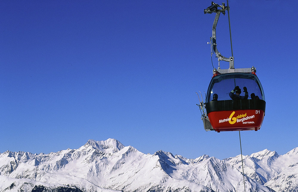 Gondola lift at Grossglockner, AUT.