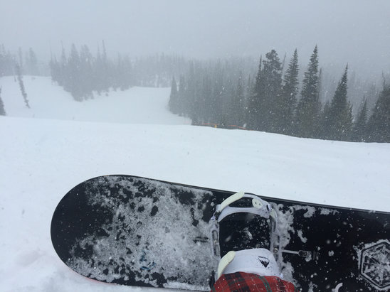 Big Sky Resort - Snowing all day!  - © iPhone