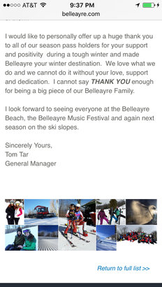 "Belleayre - Not ""permanently closed"". Just for the season as per the website.  - © Mine"