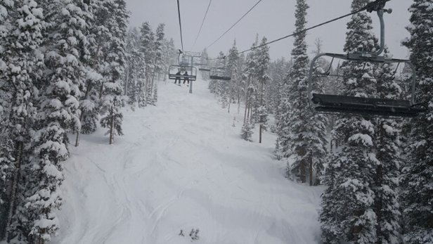 Keystone - powder galore! the 1 inch report is incredibly modest - © rzr800cos