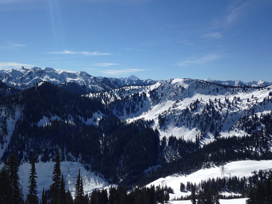 Stevens Pass Resort - Such a lovely day...grabby mashed potatoes, stick to the steeps! - © iPhone