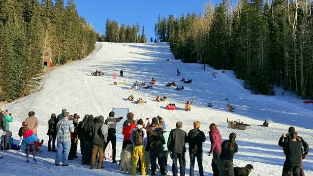 Arizona Snowbowl - always a blast, thank you snowbowl - © jb
