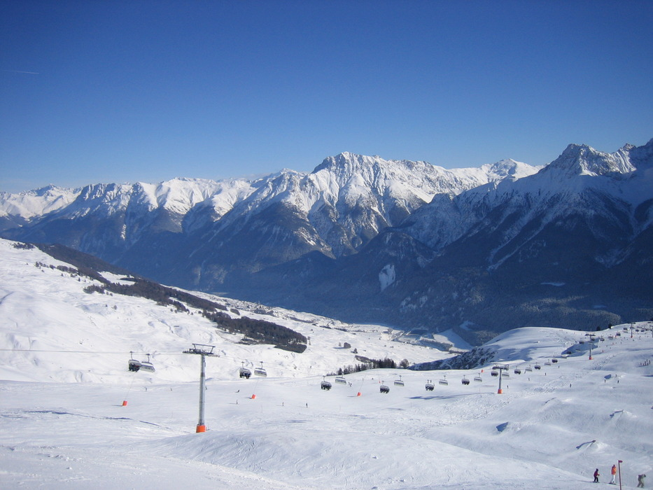 An aerial view of Scuol, Switzerland.