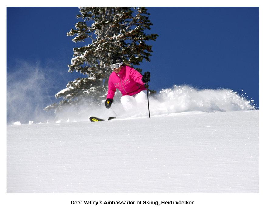 Deer Valley: l'ambasciatrice dello sci Heidi Voelker