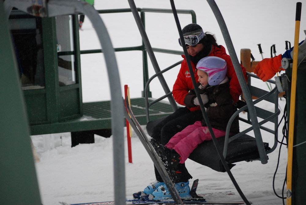 Child with instructor at Treetops Resort MI