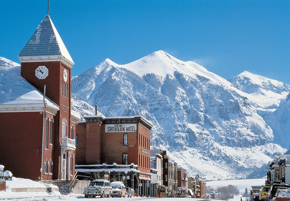 Scenic Telluride, CO. in winter