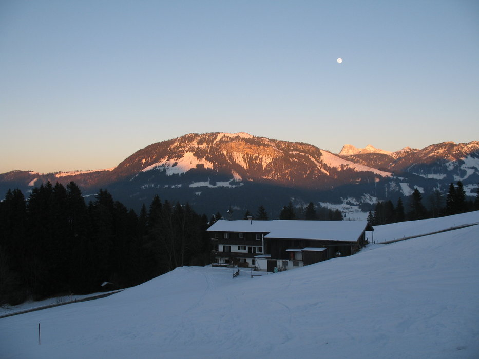 Scenic St Johann in low light