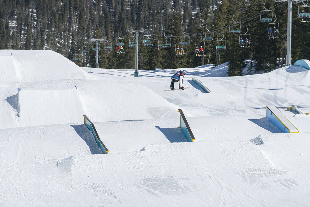USASA Slopestyle - © Join us Saturday, February 4th, for the USASA Slopestyle event at Taos Ski Valley. The competition will be held on Maxie's Terrain Park. Lift ticket must be purchased to participate. Competitor priced lift tickets are available.
