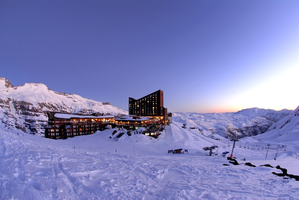 Scenic Valle Nevado Resort, Chile.