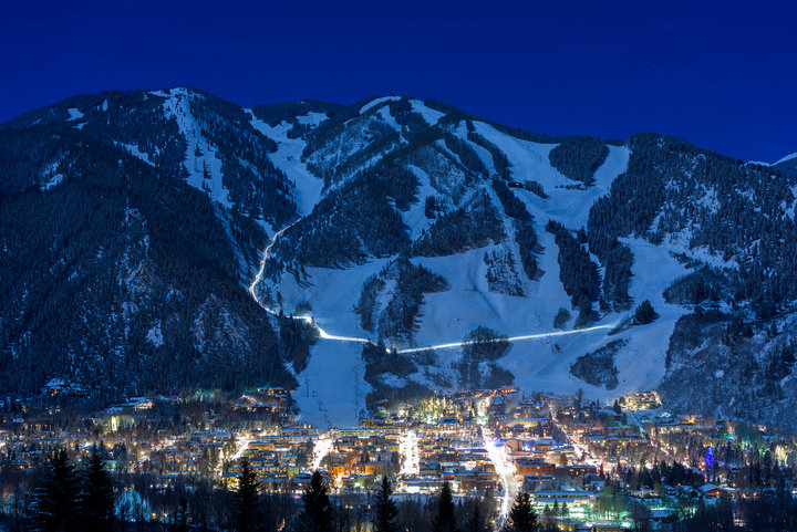 Aspen Snowmass shines just as bright when the sun goes down. - ©Daniel Bayer