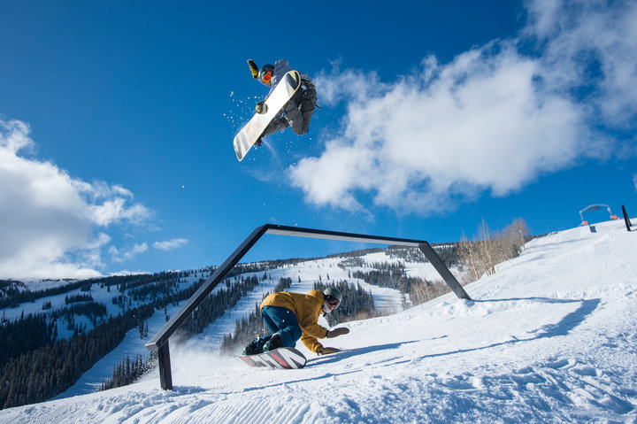 The park and pipe scene is alive and well at Aspen Snowmass. Send'er.  - ©Scott Markewitz