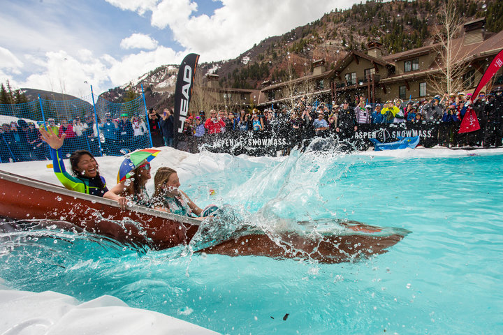 Springtime in Aspen is a great excuse to get wet. - ©Jeremy Swanson