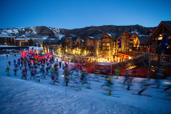 The Power of Four Race gets underway in Snowmass. - © Jeremy Swanson