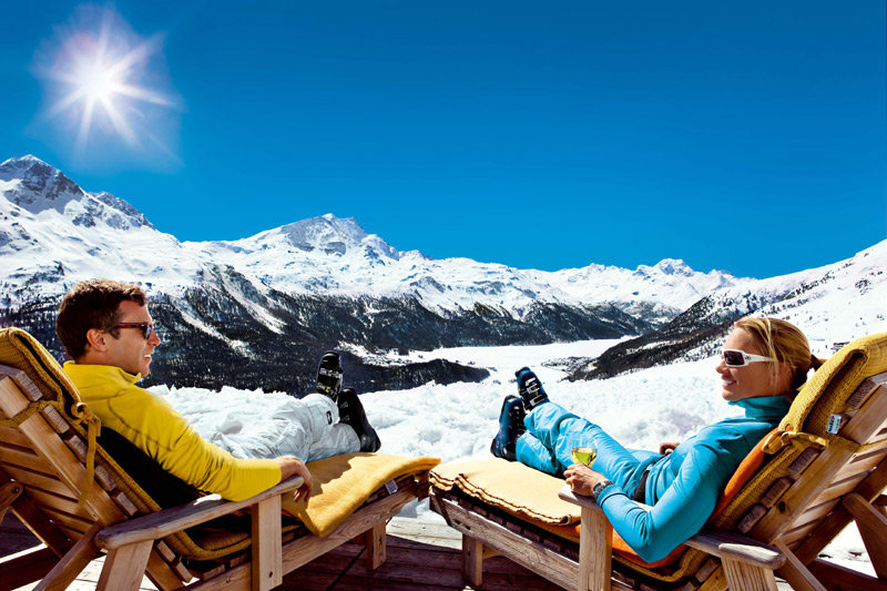 Catching some rays in St. Moritz - Corviglia