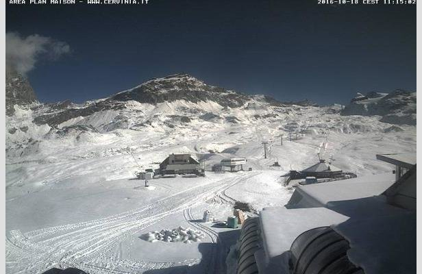 Cervinia 18 Ottobre 2016 - © Cervinia webcam