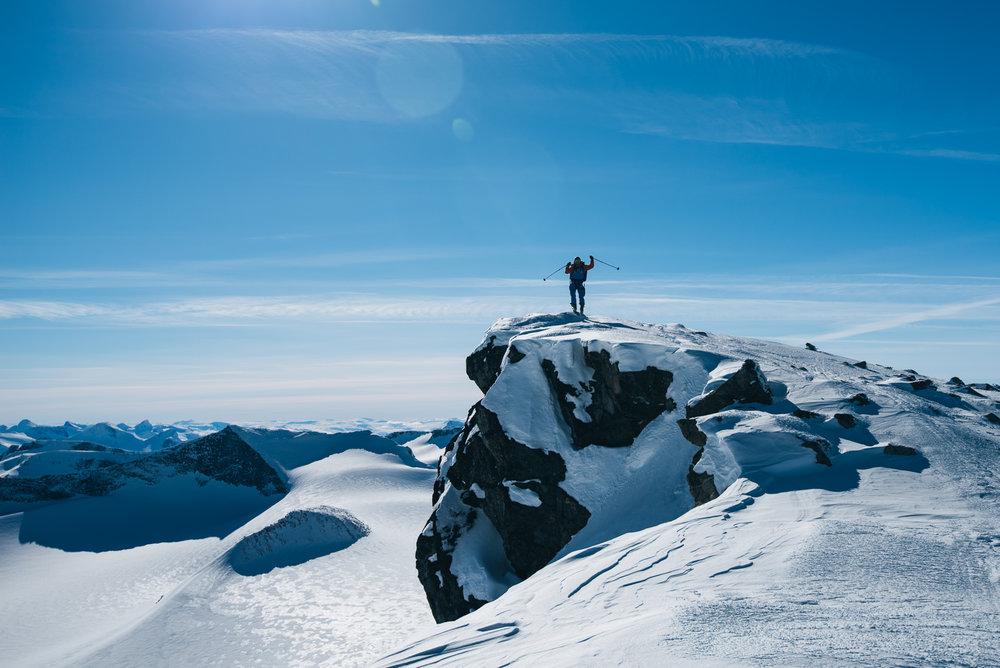 Snart på toppen av Norges tak.  - ©Tor Berge - Norexplore