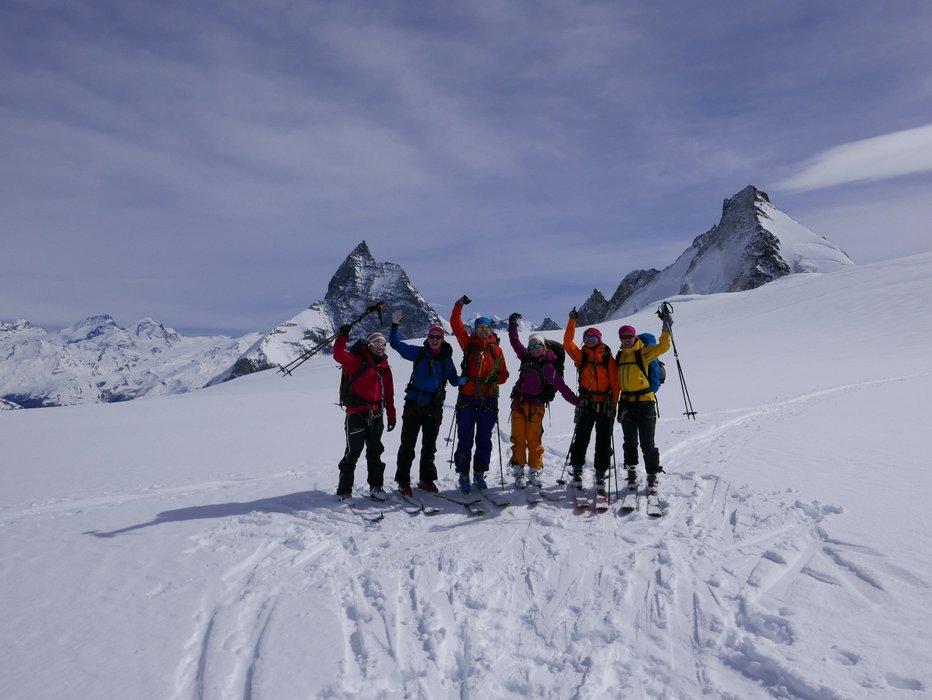 En veldig glad gjeng foran Matterhorn siste dagen. - ©Mattias Erlandson