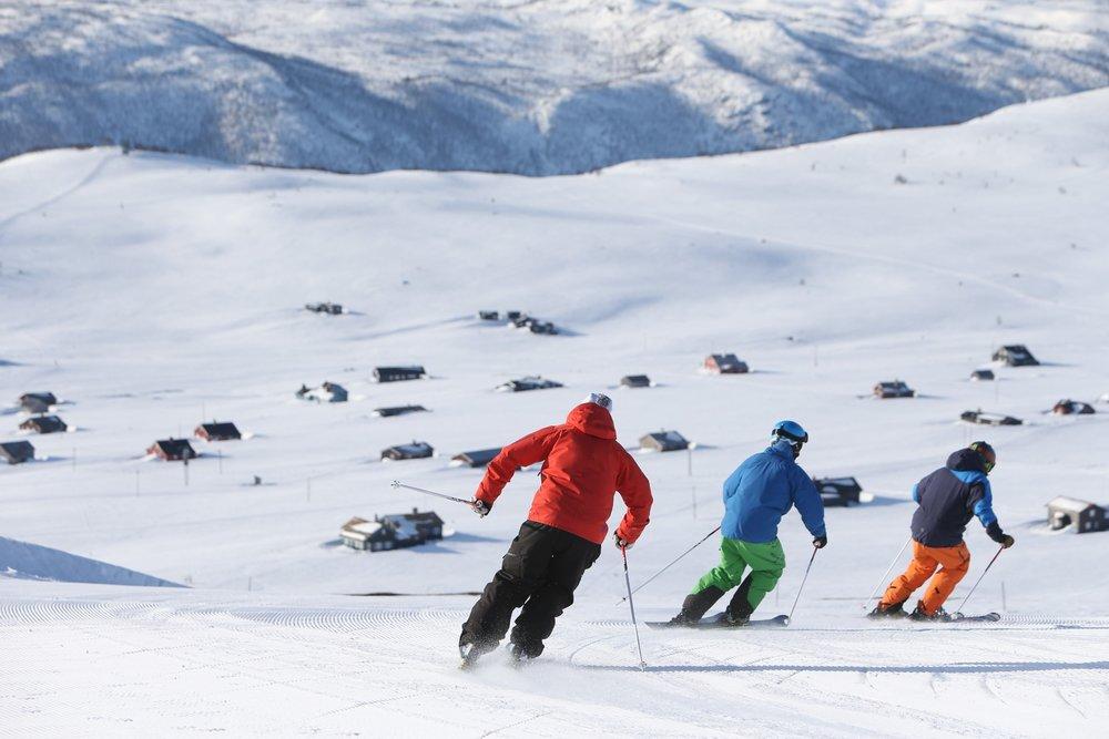Skikjøring i Havsdalen på Geilo. På lørdag er sesongen skikkelig i gang. - ©Nils Erik Bjørholt