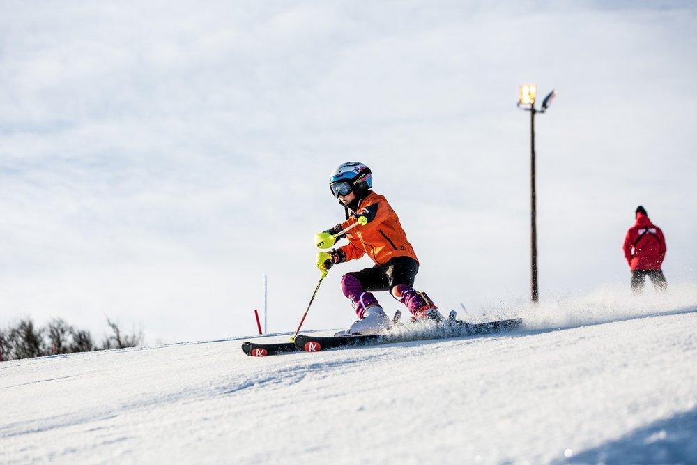 Mange aktive skikjørere har hatt treninger i løypa i Havsdalen på Geilo som har vært åpen siden 1. oktober. - ©Geilo Holiday