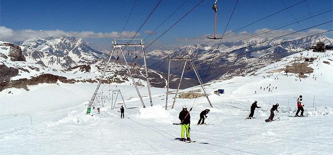 De Grand Motte gletsjer in Tignes: 20 km pistekilometers en een funpark in de zomer