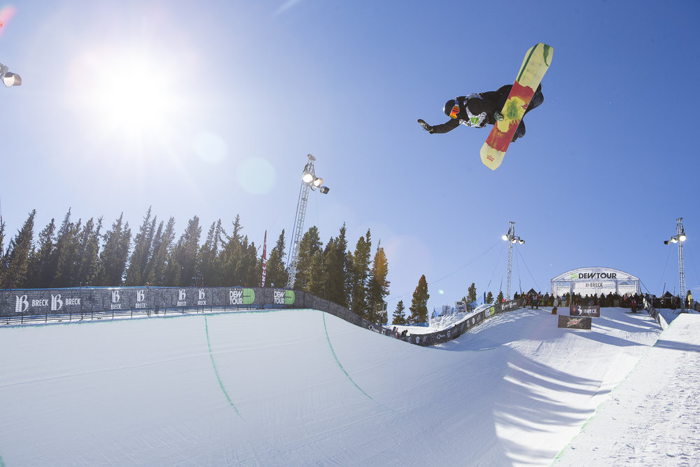 Breckenridge hosts the Dew Tour, which seems to bring out the best in people. - ©Breckenridge Ski Resort
