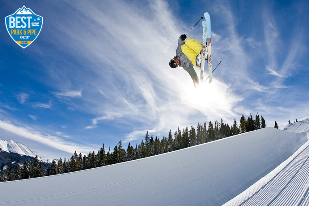 Super pipe equals super air. - ©Breckenridge Ski Resort