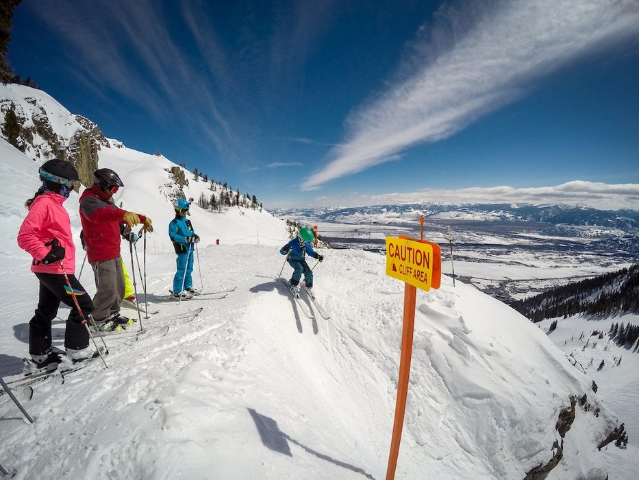 """Go ahead son, I'll make sure it's safe from up here."" - © Jackson Hole Mountain Resort"