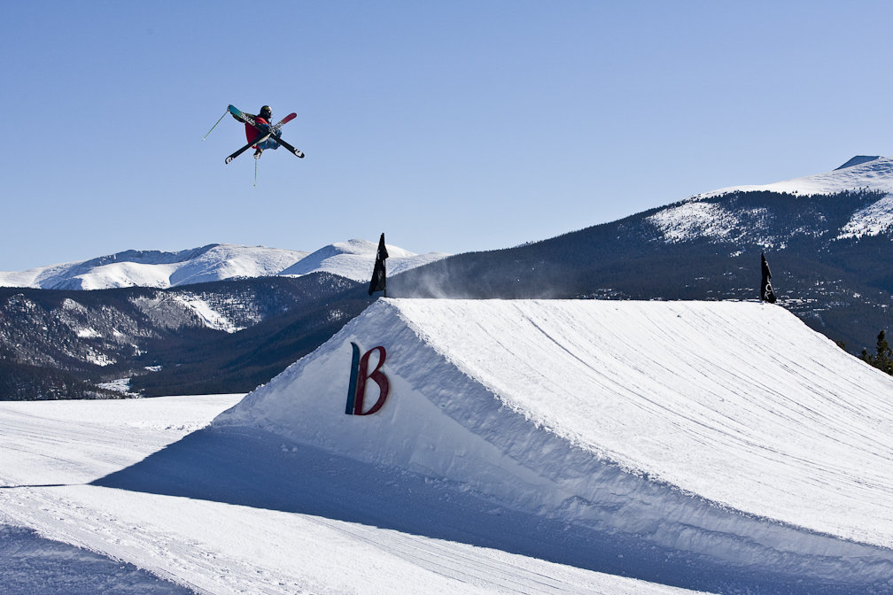 A massive hit gets taught a lesson by a Breckenridge regular. - ©Breckenridge Ski Resort