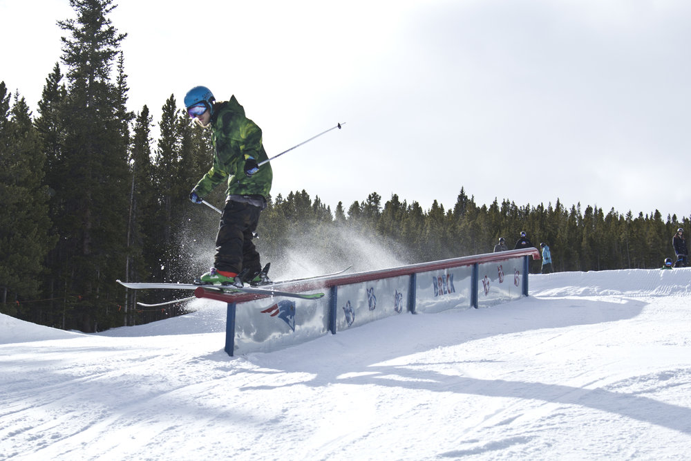 Salty rail slide, brah. - ©Breckenridge Ski Resort