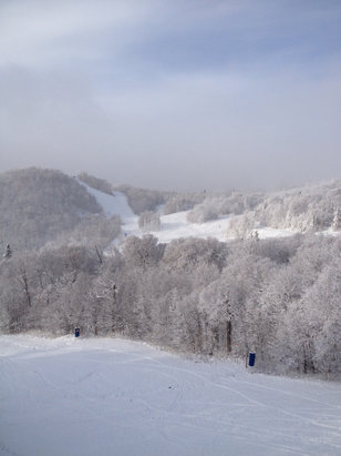 Tremblant - Monday November 28/16.  Five perfect trails for my first day on the snow.  - © My 16Gb iPhone