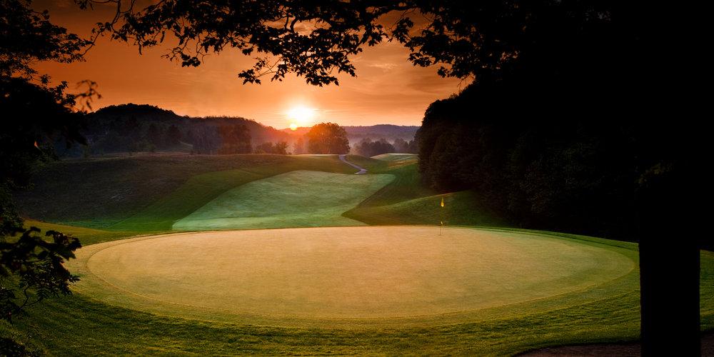 "Shanty Creek MI golf course sunriseGolf September ""Shanty Creek 2009"" ""©BrianWalters 248-830-0870"""