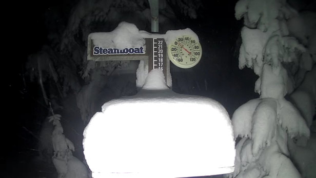 "Steamboat - According to their snowcam it appears to have dumped 12"" through the night!! - © Tracy's iPhone"