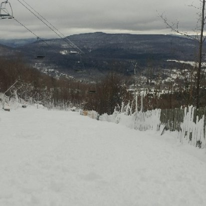Hunter Mountain - snowed enough last night to open more trails.  conditions are awesome.  - © anonymous
