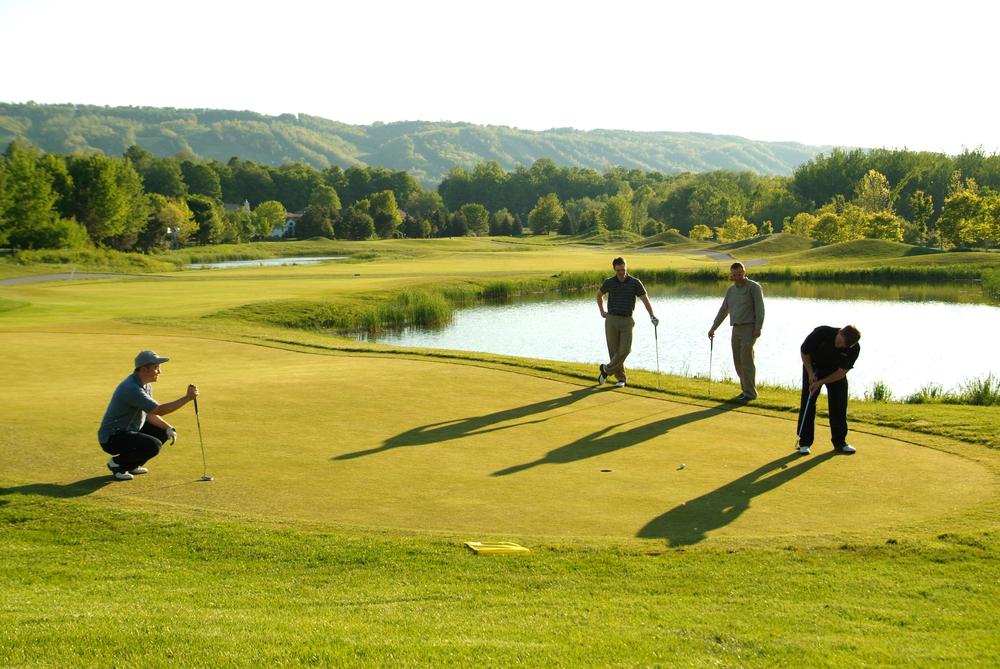 Golfers at Blue Mountain, Ontario.