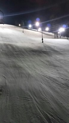 Seven Springs - definitely some bare spots on the sides of stowe, tyrol, avalanche and north face, not too bad tonight, though.   - © anonymous