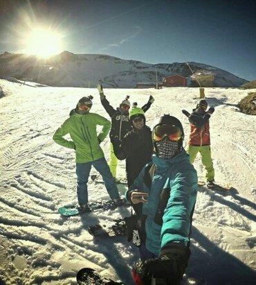 Roccaraso - Rivisondoli - buona la prima.... anche con la neve artificiale ci si diverte... - © Anonimo