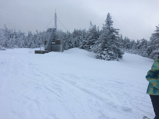 Cannon Mountain - Today was epic with 14 inches of fresh pow. Very crowded though.  - © iPhone