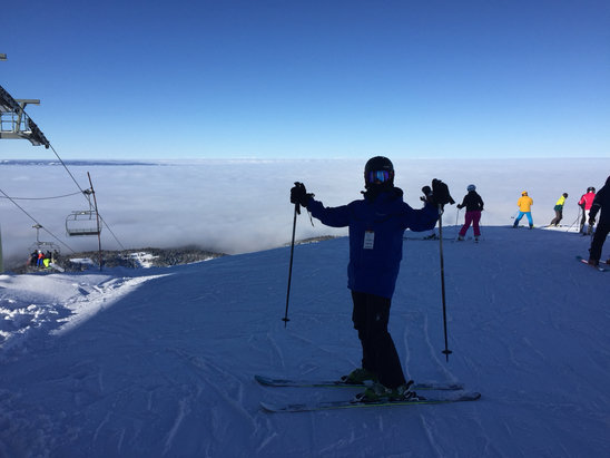 "Grand Targhee Resort - Skiing on top of the world. 3-4"" of fresh powder yesterday.  Beautiful  - © James's iPhone"