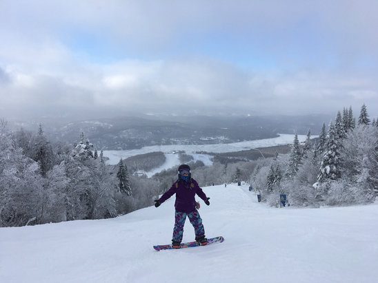 Tremblant - Great conditions!  Few ice/hardpack patches here and there but much better then a few days ago! - © Joe's iPhone 6
