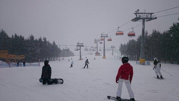 Zieleniec Ski Arena - Dzisiaj padało i wiało. miejscami sporo lodu  - © marcin.kopij