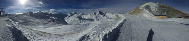 Livigno - Picture of 4th Jan. Strong wind today 5th Jan.