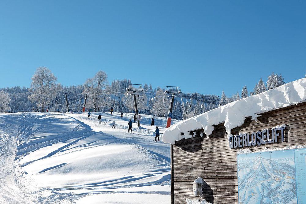 Der Übungslift im Skigebiet Schwarzenberg-Bödele - © Schwarzenberg Tourismus