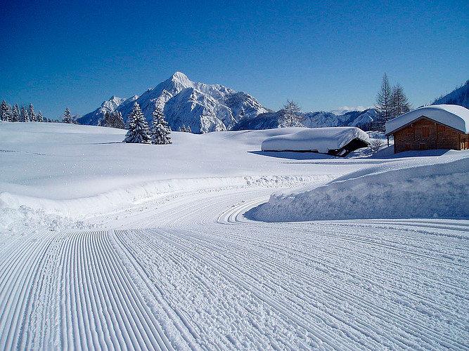 Winterlandschaft im Skigebiet Postalm Wolfgangsee - © Postalm Wolfgangsee