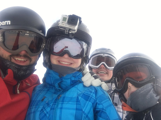 Snowshoe Mountain Resort - Great day with lots of fresh snow. All smiles goes a long way..