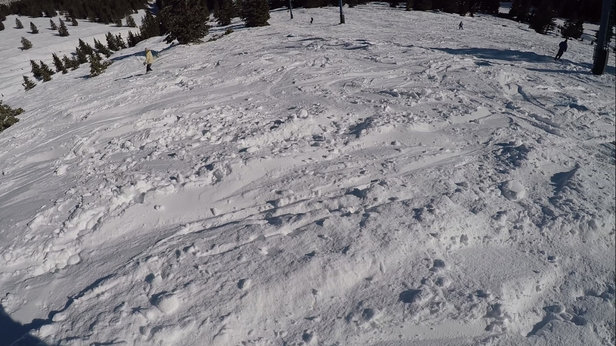 Ski Apache - Apache bowl is awesome; some spots of fresh pow, overall bad to the bone!  - © iPhone