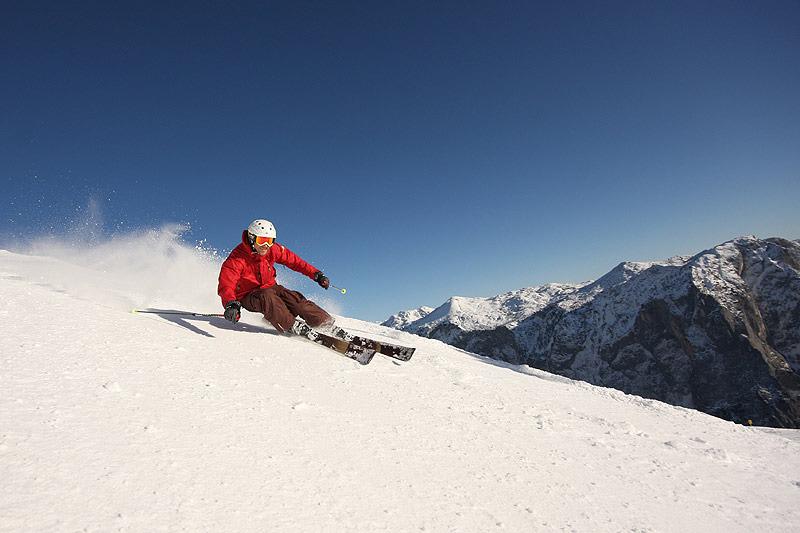Skifahrer in Loser