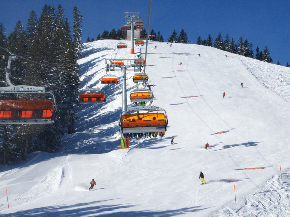 Die Pisten im Skigebiet Hörnerbahn Bolsterlang - © Hörnerbahn Bolsterlang