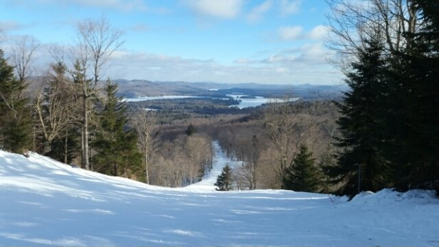 McCauley Mountain Ski Center - Good conditions on groomed trails on 1/15.  Icy as heck on ungroomed surfaces.   - ©anonymous