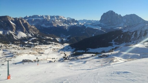 Val Gardena - Selva - Ortisei - Santa Cristina - Neve artificiale ma tutto stupendo  - © Luca